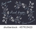 hand drawn floral calligraphic... | Shutterstock .eps vector #457915423