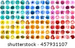Stock photo mega pack of in natural and surreal blue orange red yellow turquoise and pink flowers 457931107