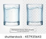 transparent vector glass of... | Shutterstock .eps vector #457935643