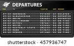 airport mechanical time table... | Shutterstock .eps vector #457936747
