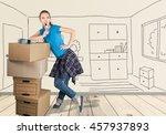 moving house. | Shutterstock . vector #457937893