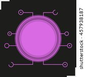 digital microchip frame.