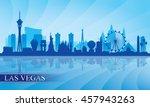 las vegas city skyline...   Shutterstock .eps vector #457943263