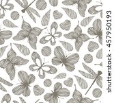 vintage seamless pattern with... | Shutterstock .eps vector #457950193