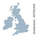 map of british islands | Shutterstock .eps vector #457951543
