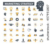 marketing strategy icons | Shutterstock .eps vector #457951807