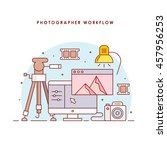 photographer workplace. photo...