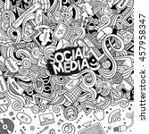 cartoon cute doodles hand drawn ... | Shutterstock .eps vector #457958347