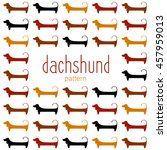 dachshunds. pattern. dachshunds ... | Shutterstock .eps vector #457959013