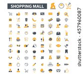 shopping mall icons | Shutterstock .eps vector #457960087