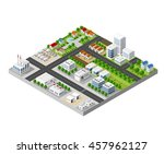 the 3d perspective aspect of... | Shutterstock .eps vector #457962127