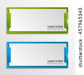 origami vector banner. the... | Shutterstock .eps vector #457965343
