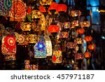 turkish decorative lamps for... | Shutterstock . vector #457971187
