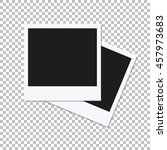 two empty vector square photo... | Shutterstock .eps vector #457973683