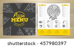 vintage pizza menu design | Shutterstock .eps vector #457980397