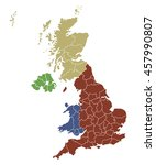 map of great britain | Shutterstock .eps vector #457990807