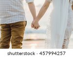 holding hands  holding hands on ... | Shutterstock . vector #457994257