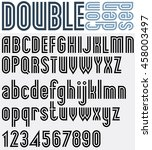 parallel black and white font... | Shutterstock . vector #458003497