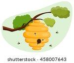 beehive | Shutterstock .eps vector #458007643