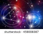 sacred geometry. mathematics ... | Shutterstock .eps vector #458008387