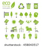 green energy and ecology icon... | Shutterstock .eps vector #458043517
