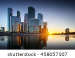 moscow city  russia. moscow... | Shutterstock . vector #458057107