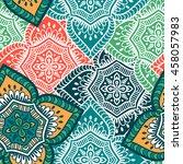 seamless pattern. vintage... | Shutterstock .eps vector #458057983