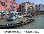 venice  italy   july 1  2016 ... | Shutterstock . vector #458066167