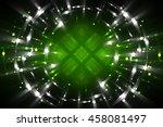 abstract fractal green... | Shutterstock . vector #458081497