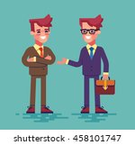 two young businessmen are... | Shutterstock .eps vector #458101747
