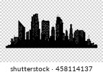 vector city silhouette with...