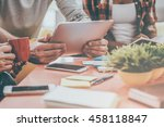 close up at work. close up of...   Shutterstock . vector #458118847