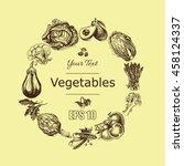 vector illustration sketch of... | Shutterstock .eps vector #458124337