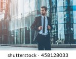 young and successful. handsome... | Shutterstock . vector #458128033