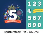 anniversary fireworks and... | Shutterstock .eps vector #458132293