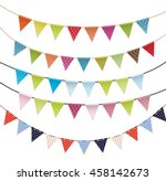 party flags set vector... | Shutterstock .eps vector #458142673