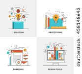 modern flat color line designed ... | Shutterstock .eps vector #458148643