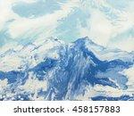 blue mountains  abstract... | Shutterstock . vector #458157883