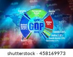 gdp   gross domestic products.... | Shutterstock . vector #458169973