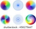 abstract spirograph element set  | Shutterstock .eps vector #458175667