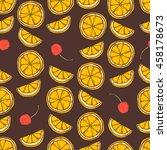 seamless pattern of  slices... | Shutterstock .eps vector #458178673