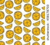 seamless pattern of  slices... | Shutterstock .eps vector #458178703