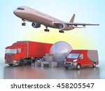 3d illustration delivery and... | Shutterstock . vector #458205547
