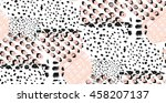 abstract hand drawn geometric... | Shutterstock .eps vector #458207137