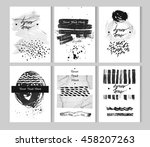 set of hand drawn isolated... | Shutterstock .eps vector #458207263