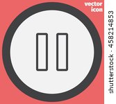 pause button sign line vector...