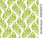 vector floral seamless pattern... | Shutterstock .eps vector #458258377