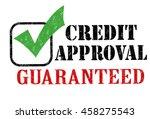 credit approval grunge rubber...   Shutterstock .eps vector #458275543