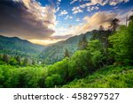 Sunset At The Newfound Gap In...