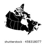 map of canada | Shutterstock .eps vector #458318077